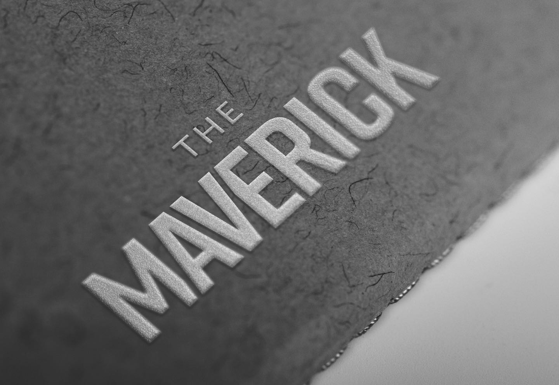 Foon Skis Maverick logo design