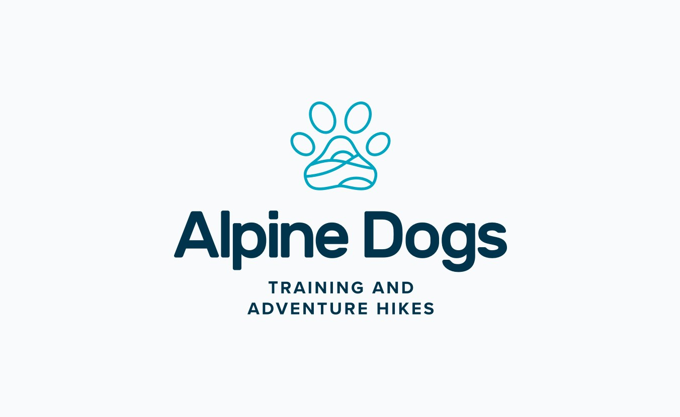 Alpine Dogs Logo Lockup