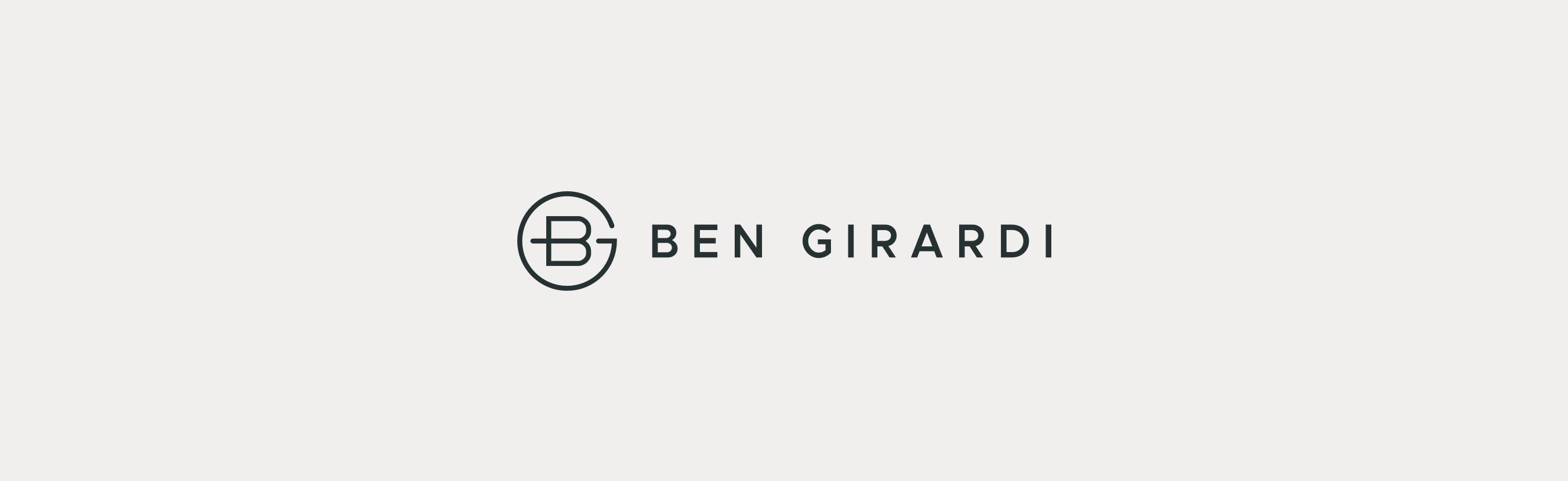 Ben Girardi Horizontal Logo Lockup