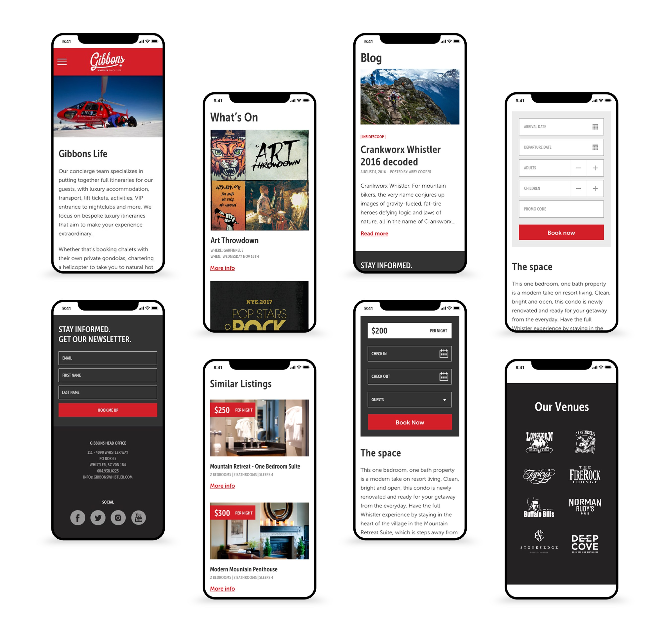 Gibbons mobile screens